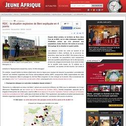 RDC : la situation explosive de Beni expliquée en 4 points