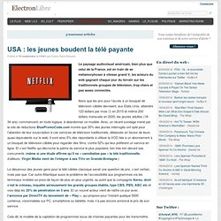 USA : les jeunes boudent la télé payante