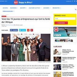 Voici les 15 jeunes entrepreneurs qui font la fierté de l'Afrique