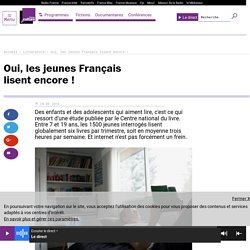 Oui, les jeunes Français lisent encore !