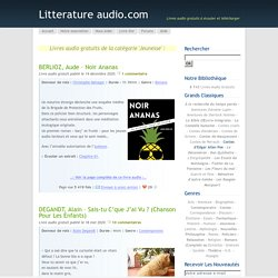Litterature audio, Jeunesse