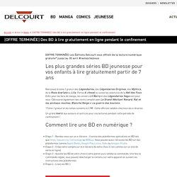 Les Editions Delcourt vous proposent de la lecture numérique gratuite