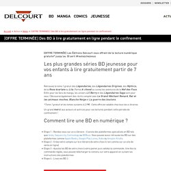 BD gratuites - Editions Delcourt
