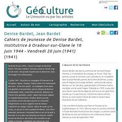 Cahiers de jeunesse de Denise Bardet, institutrice à Oradour-sur-Glane le 10 juin 1944 - Vendredi 20 juin (1941)