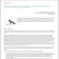 Défauts de jeunesse des moocs et propositions pour leur accès à la maturité - Jacques Rodet