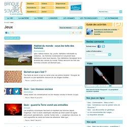 Banque des savoirs : Des quizz sur l'archéologie, le développement durable, les volcans, la chimie, l'économie, l'informatique...