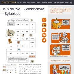 Jeux de l'oie – Combinatoire – Syllabique