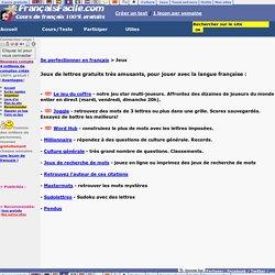 Jeux de lettres en français