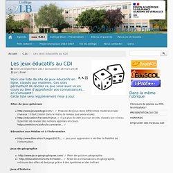 Les jeux éducatifs au CDI - Collège Léon BLUM