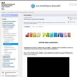 Jeux Fabrique - Le numérique éducatif