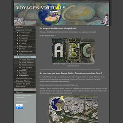 Jeux Google Earth