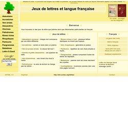 Jeux de lettres et langue française