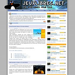 Jeux libres . net : des jeux libres, pour tous !