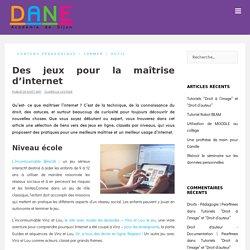 Des jeux pour la maîtrise d'internet – Délégation Académique au Numérique Éducatif