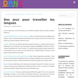 Des jeux pour travailler les langues - DANE AC Dijon