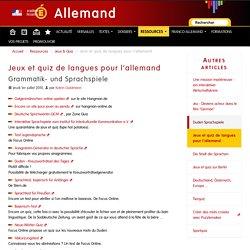 Jeux et quiz de langues pour l'allemand