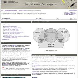 Jeux sérieux - Jeux sérieux ou Serious games
