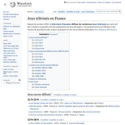 Jeux télévisés en France