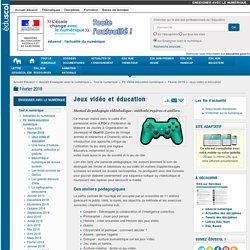 Jeux vidéo et éducation
