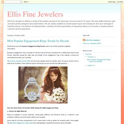 Ellis Fine Jewelers: Most Popular Engagement Rings Trends by Decade