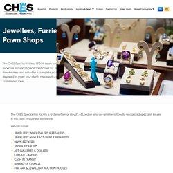 Jewellers, Furriers & Pawn Shops - CHES Special Risk Inc
