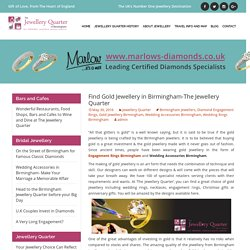 Find Gold Jewellery in Birmingham-The Jewellery Quarter