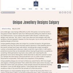 Unique Jewellery Designs Calgary