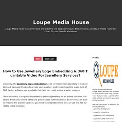 How to Use Jewellery Logo Embedding & 360 Turntable Video For Jewellery Services? - Loupe Media House
