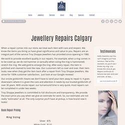 Jewellery Repairs Calgary