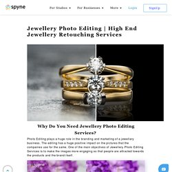 High End Jewellery Retouching Services