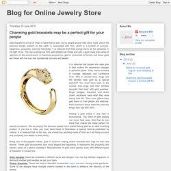 Charming gold bracelets
