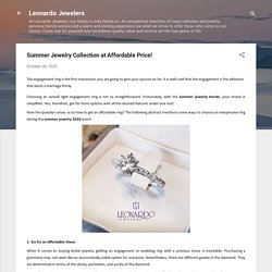 Summer Jewelry Collection at Affordable Price!