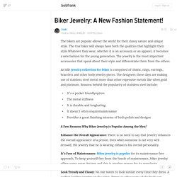 Biker Jewelry: A New Fashion Statement!
