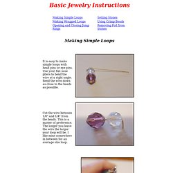 Basic Jewelry Instructions - Jan's Jewelry Supplies