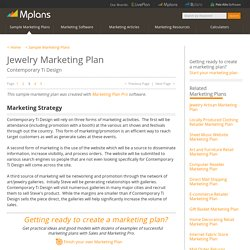 Jewelry Sample Marketing Plan - Marketing Strategy