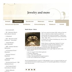 Jewelry and more - Martin Mayer - Pforzheim / Mainz