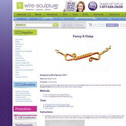 Fancy S Clasp - a Free Wire Jewelry Pattern by Mint Spring for Wire-Sculpture.com: Jewelry Making Supplies