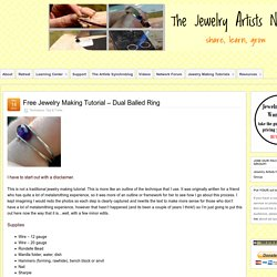 Free Jewelry Making Tutorial – Dual Balled Ring » Jewelry Artists Network