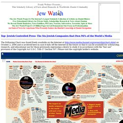 Jewish Controlled Press - Six Jewish Companies That Own 96% of the World's Media