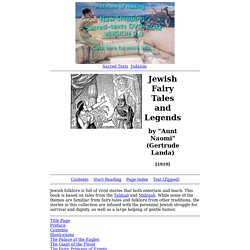 Jewish Fairy Tales and Legends Index