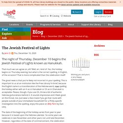 The Jewish Festival of Lights - Blog
