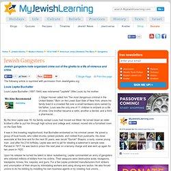 Jewish Gangsters