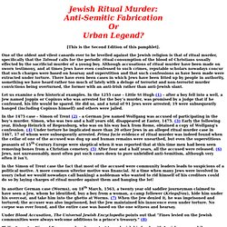 JEWISH RITUAL MURDER by Alexander Baron: Text