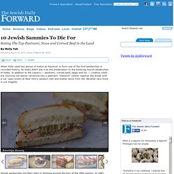 10 Jewish Sammies To Die For