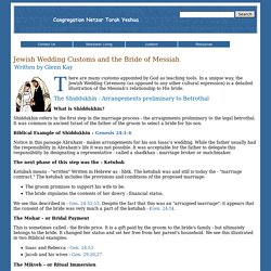 Jewish Wedding Customs and the Bride of Messiah