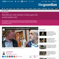 #JezWeCan: why Jeremy Corbyn gets the social media vote