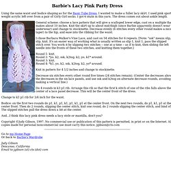 Barbie's Lacy Pink Party Dress - Knitting Pattern
