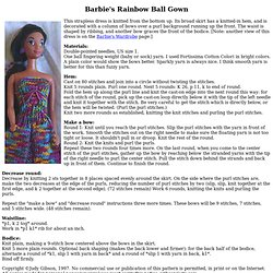 Barbie's Rainbow Ball Gown - Free Knitting Pattern