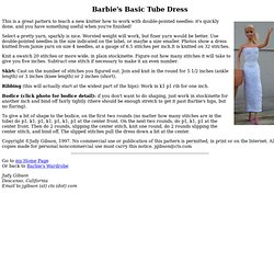 Barbie's Basic Tube Dress - Knitting Pattern