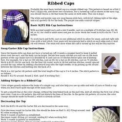 JGibson: Ribbed Caps